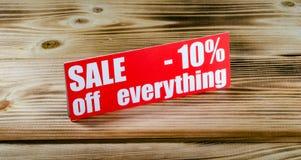 Verkauf bis 10 Prozent Lizenzfreies Stockbild