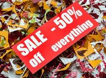 Verkauf bis 50 Prozent Lizenzfreies Stockbild