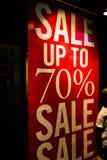 Verkauf bis zur 70-Prozent-Fahne Lizenzfreie Stockbilder