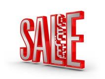 Verkauf 3D mit arabischem Text Lizenzfreie Stockfotografie