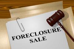 Verkauf der gerichtlichen Verfallserklärung - Rechtsauffassung Lizenzfreie Stockbilder