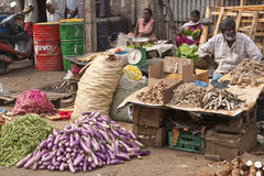 Verkauf der getrockneten Fische Stockfoto