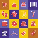 Verkauf der Ikonen lizenzfreie abbildung