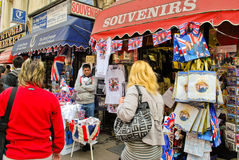 Verkauf der königlichen Hochzeitsandenken Lizenzfreies Stockbild