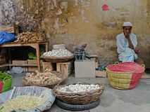 Verkauf des Gemüses. Stockfotos