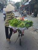 Verkauf des grünen Gemüses Lizenzfreie Stockfotografie