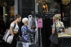 70% Verkauf am Einzelhandelsgeschäft Lizenzfreies Stockbild