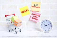 Verkauf, großer Rabatt Stockfotos