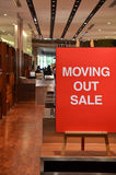 Verkauf heraus bewegen Lizenzfreies Stockfoto
