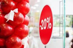 Verkauf im Shop Stockfotos