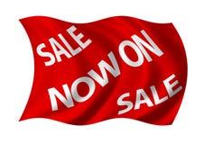 Verkauf jetzt auf Markierungsfahne Lizenzfreies Stockbild