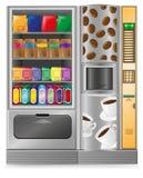 Verkauf Kaffee und sneck ist eine Maschine Stockfotografie