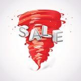 Verkauf mit Tornado Vektor Abbildung
