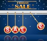 Verkauf mit vier Weihnachtsbällen Lizenzfreie Stockfotos