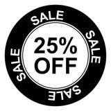 Verkauf mit 25% weg Lizenzfreie Stockfotografie