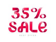 Verkauf 35 Prozent heruntergesetzt stock abbildung
