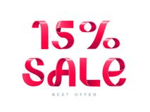 Verkauf 15 Prozent heruntergesetzt vektor abbildung