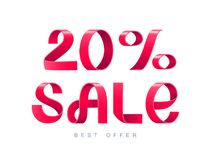 Verkauf 20 Prozent weg Stockbilder