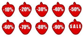 Verkauf. Set Zahlen und Prozente Lizenzfreie Stockbilder