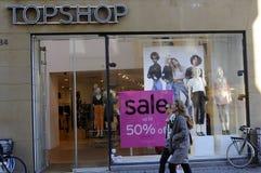 50% Verkauf am topshop Stockbilder