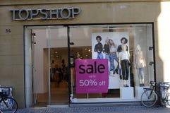 50% Verkauf am topshop Lizenzfreie Stockfotografie