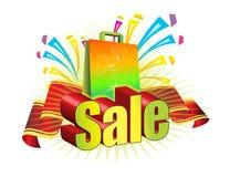 Verkauf und Beutel Stockfotografie
