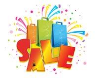 Verkauf und Einkaufen Lizenzfreies Stockbild