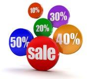 Verkauf und Prozente (Beschneidungspfad eingeschlossen) Stock Abbildung