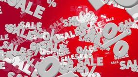 Verkauf und Prozente im Weiß vektor abbildung