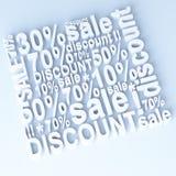 Verkauf und Rabatt Lizenzfreies Stockfoto