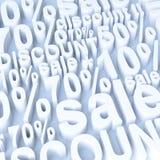 Verkauf und Rabatt Lizenzfreie Stockbilder