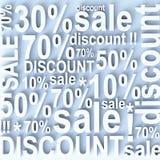 Verkauf und Rabatt Stockfoto