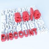 Verkauf und Rabatt Lizenzfreies Stockbild