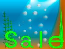 Verkauf unter Wasser Lizenzfreie Stockfotografie