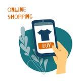 Verkauf, Verbraucherschutzbewegung, shoping on-line-Konzept vektor abbildung