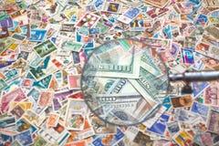 Verkauf von Briefmarken Stockfotografie