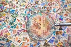 Verkauf von Briefmarken Lizenzfreies Stockbild