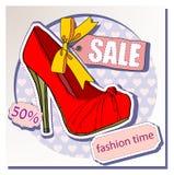 Verkauf von Schuhen Lizenzfreies Stockbild