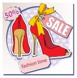 Verkauf von Schuhen Stockfotografie