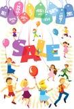 Verkauf von Waren für Kinder Lizenzfreie Stockfotos