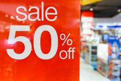 Verkauf 50% weg Lizenzfreies Stockbild