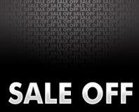 Verkauf weg vom Hintergrund Lizenzfreies Stockbild