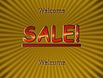 Verkauf - Willkommen! Stockfoto