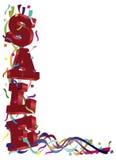 VERKAUF Zeichen mit Farbbändern und Confetti Lizenzfreies Stockbild