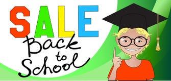 Verkauf zurück zu Schule Stockfotos