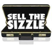Verkaufen Sie den Wort-Aktenkoffer-Verkaufs-Darstellungs-Nutzen W des zischens-3d Lizenzfreie Stockfotos