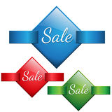 Verkaufs-Angebot-Tagikone Stockbild