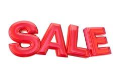 Verkaufs-Art Rot-Ballon stock abbildung