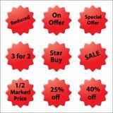 Verkaufs-Aufkleber Lizenzfreies Stockfoto