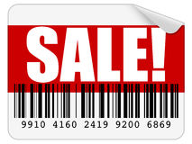 Verkaufs-Aufkleber Stockfotografie